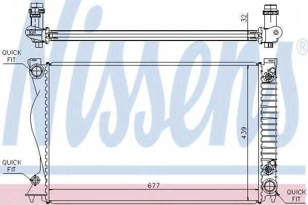 Радиатор охлаждения двигателя NISSENS 60236A - изображение