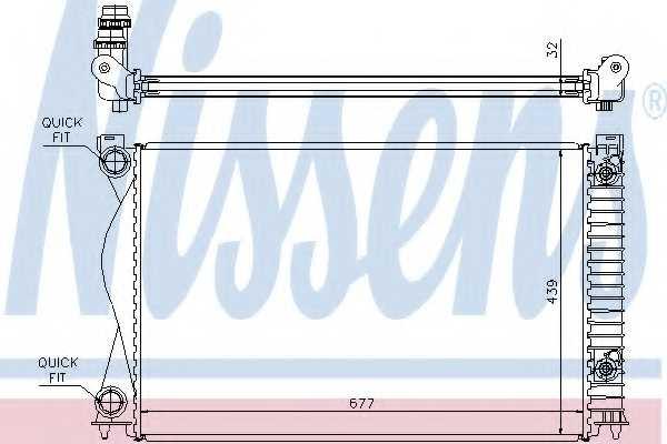 Радиатор охлаждения двигателя NISSENS 60237A - изображение