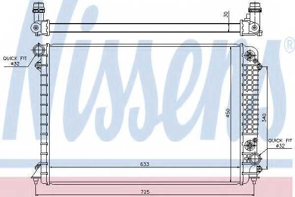 Радиатор охлаждения двигателя NISSENS 60241 - изображение