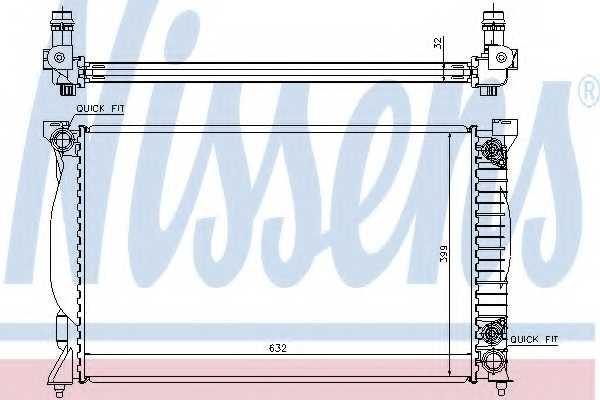 Радиатор охлаждения двигателя NISSENS 60300A - изображение