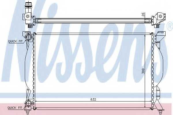 Радиатор охлаждения двигателя NISSENS 60304A - изображение