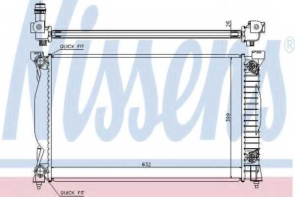 Радиатор охлаждения двигателя NISSENS 60305A - изображение