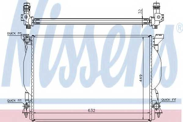Радиатор охлаждения двигателя NISSENS 60306A - изображение