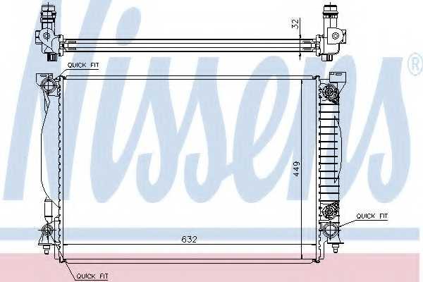 Радиатор охлаждения двигателя NISSENS 60307A - изображение