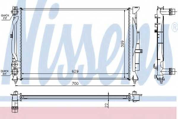 Радиатор охлаждения двигателя NISSENS 60308A - изображение