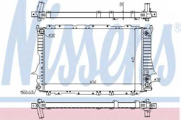 Радиатор охлаждения двигателя NISSENS 60312 - изображение