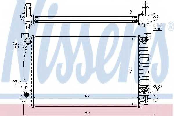 Радиатор охлаждения двигателя NISSENS 60314A - изображение
