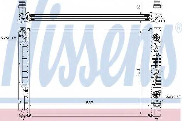 Радиатор охлаждения двигателя NISSENS 60316 - изображение