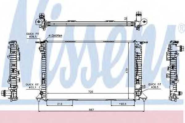 Радиатор охлаждения двигателя NISSENS 60317 - изображение