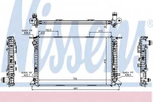 Радиатор охлаждения двигателя NISSENS 60318 - изображение