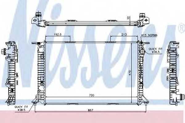 Радиатор охлаждения двигателя NISSENS 60319 - изображение