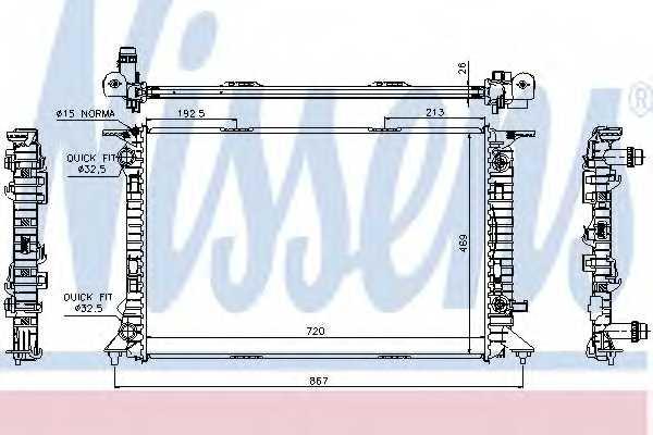 Радиатор охлаждения двигателя NISSENS 60321 - изображение