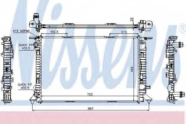 Радиатор охлаждения двигателя NISSENS 60323 - изображение