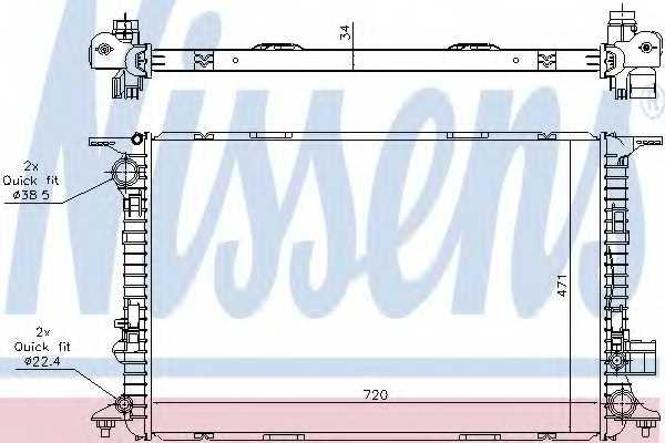 Радиатор охлаждения двигателя NISSENS 60327 - изображение