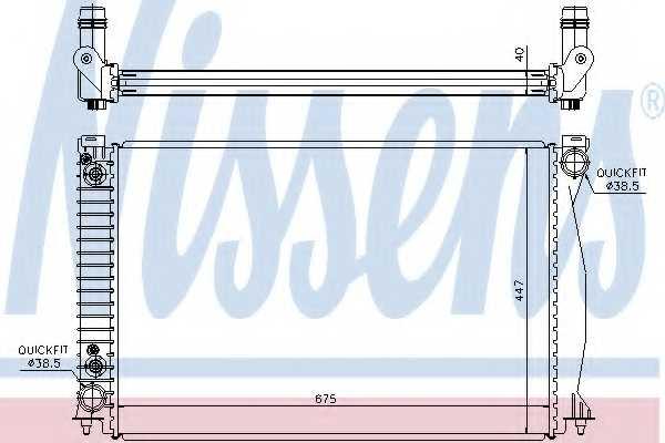 Радиатор охлаждения двигателя NISSENS 60328 - изображение