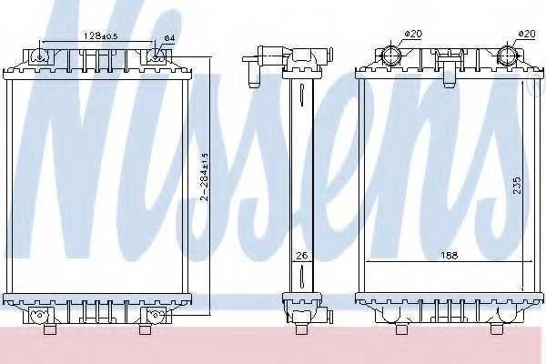 Радиатор охлаждения двигателя NISSENS 60351 - изображение