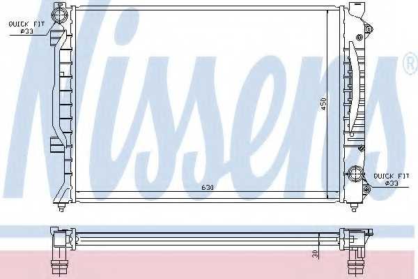 Радиатор охлаждения двигателя NISSENS 60422A - изображение