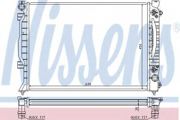 Радиатор охлаждения двигателя NISSENS 60423A - изображение
