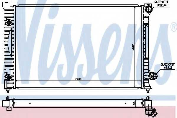 Радиатор охлаждения двигателя NISSENS 60424 - изображение