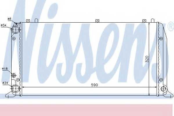 Радиатор охлаждения двигателя NISSENS 604361 - изображение