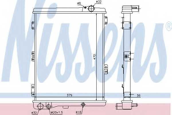 Радиатор охлаждения двигателя NISSENS 604411 - изображение