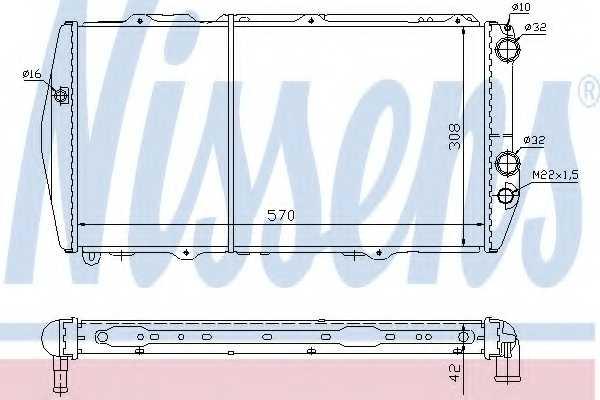 Радиатор охлаждения двигателя NISSENS 604551 - изображение