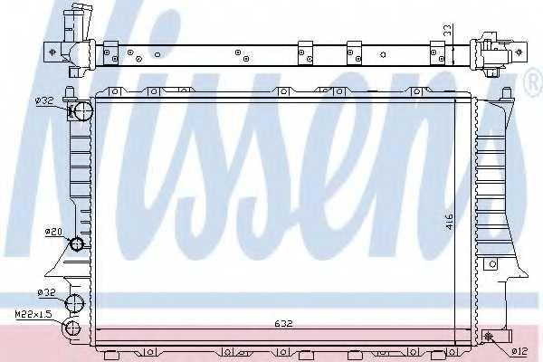 Радиатор охлаждения двигателя NISSENS 60457 - изображение
