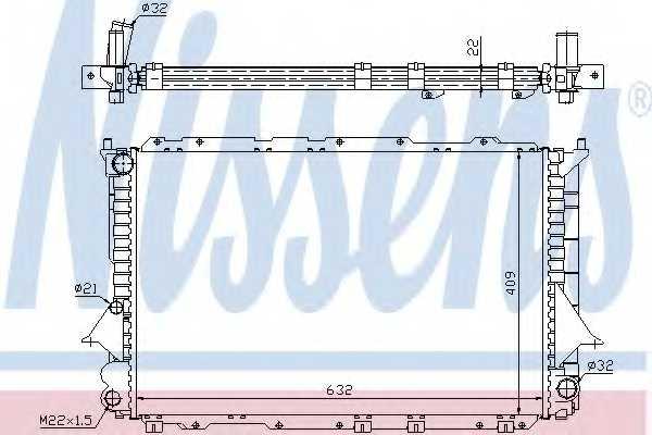 Радиатор охлаждения двигателя NISSENS 60458 - изображение