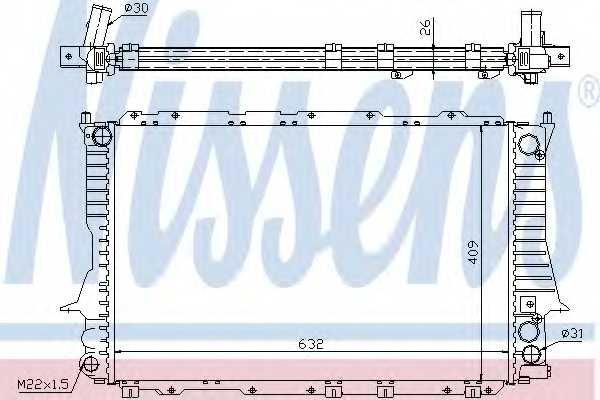 Радиатор охлаждения двигателя NISSENS 60459 - изображение