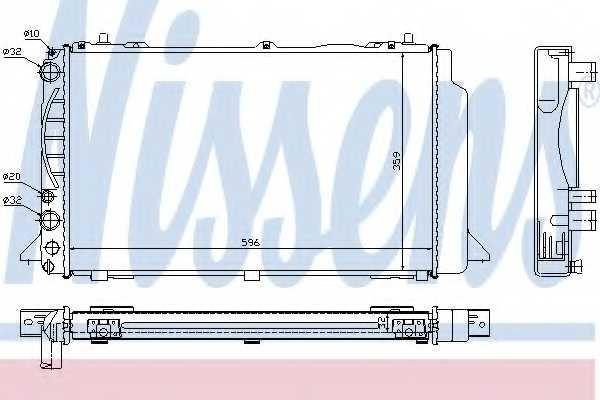 Радиатор охлаждения двигателя NISSENS 60465A - изображение