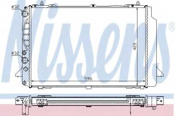 Радиатор охлаждения двигателя NISSENS 60466A - изображение