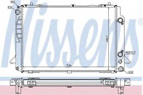 Радиатор охлаждения двигателя NISSENS 60467A - изображение