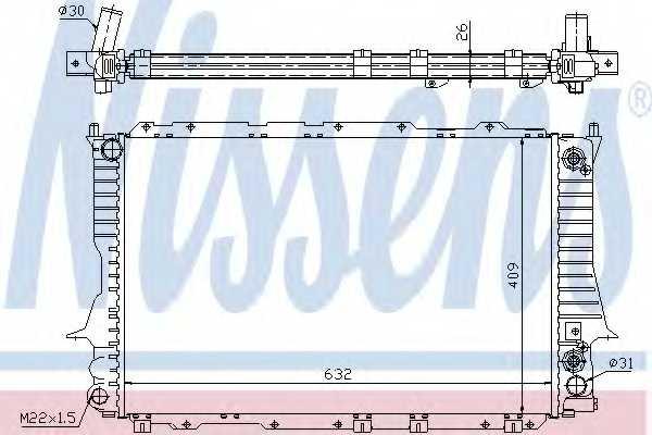 Радиатор охлаждения двигателя NISSENS 60476 - изображение