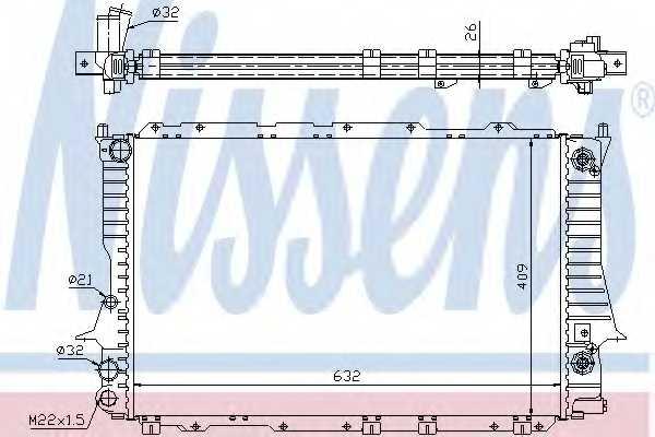 Радиатор охлаждения двигателя NISSENS 60477 - изображение
