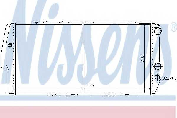 Радиатор охлаждения двигателя NISSENS 604781 - изображение