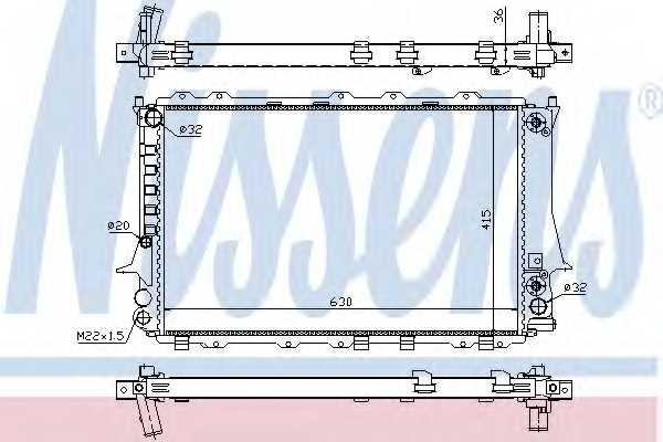 Радиатор охлаждения двигателя NISSENS 60480 - изображение