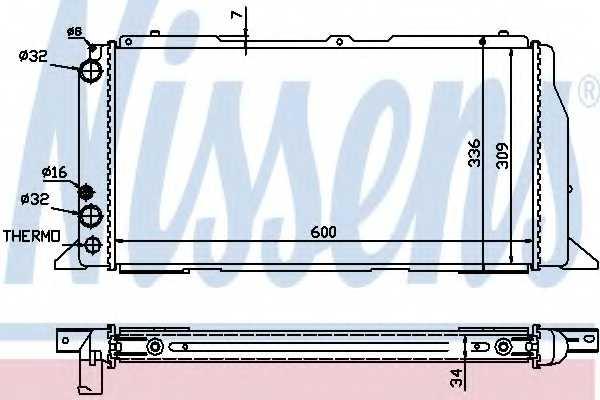 Радиатор охлаждения двигателя NISSENS 60487 - изображение