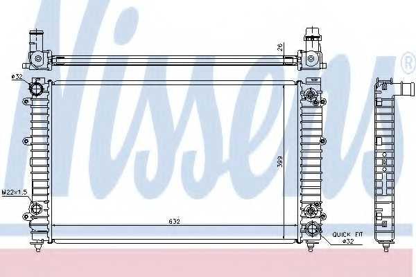 Радиатор охлаждения двигателя NISSENS 60493A - изображение