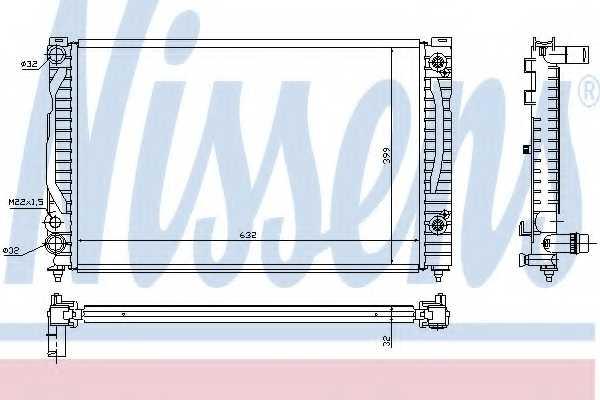 Радиатор охлаждения двигателя NISSENS 60494 - изображение