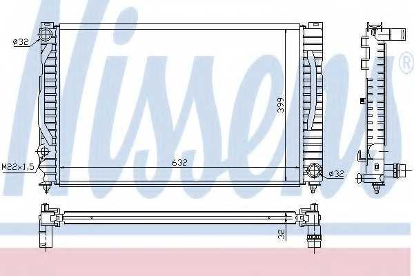 Радиатор охлаждения двигателя NISSENS 60496 - изображение