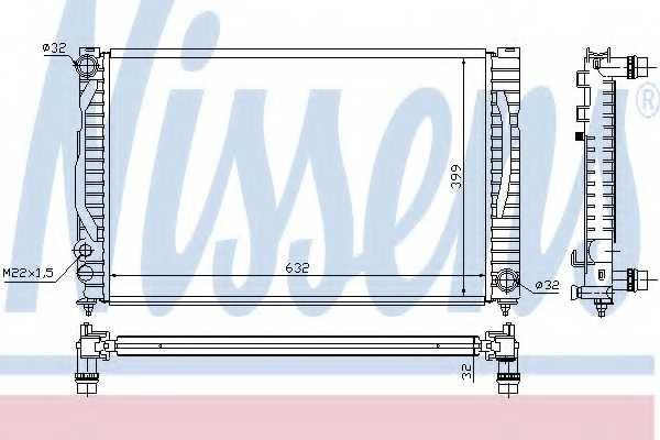 Радиатор охлаждения двигателя NISSENS 60497 - изображение