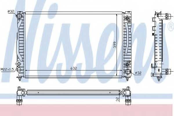 Радиатор охлаждения двигателя NISSENS 60498 - изображение