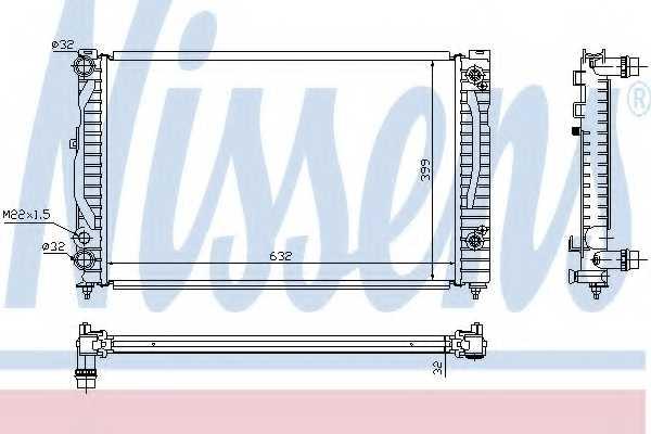 Радиатор охлаждения двигателя NISSENS 60499 - изображение