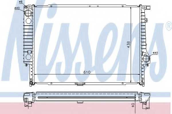Радиатор охлаждения двигателя NISSENS 60596A - изображение