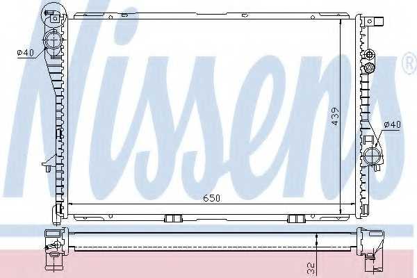 Радиатор охлаждения двигателя NISSENS 60603A - изображение