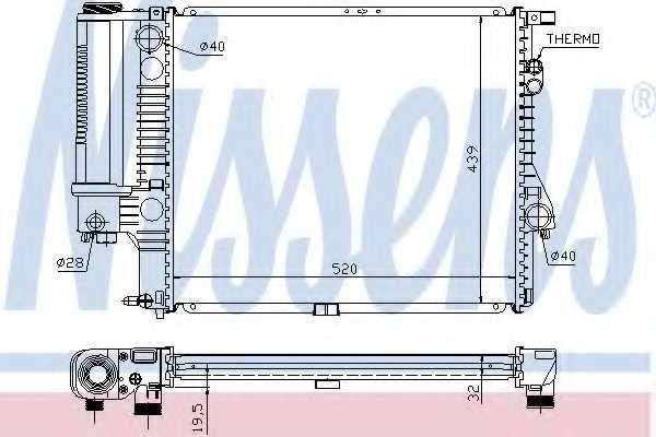 Радиатор охлаждения двигателя NISSENS 60607A - изображение
