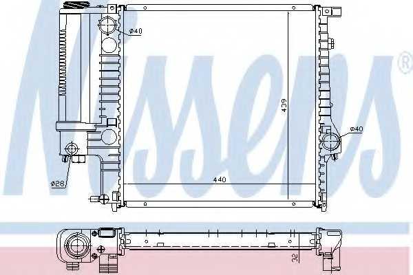 Радиатор охлаждения двигателя NISSENS 60623A - изображение