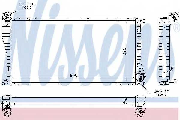 Радиатор охлаждения двигателя NISSENS 60634A - изображение