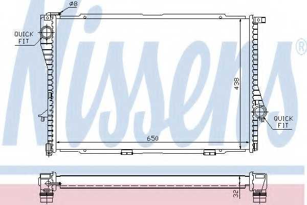 Радиатор охлаждения двигателя NISSENS 60648A - изображение