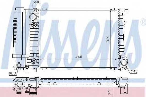 Радиатор охлаждения двигателя NISSENS 60703A - изображение